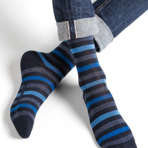 Striped urban SO navy blue