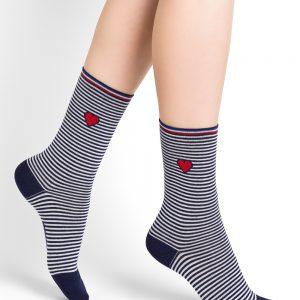 Bleuforet navy stripes sokkar ink blue
