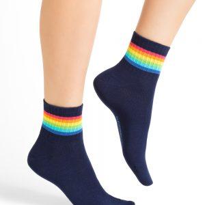 Bleuforet rainbow stripes sokkar ink blue