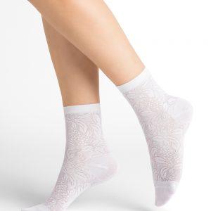 Bleuforet Lacy Eklerberry silki sokkar snow 3