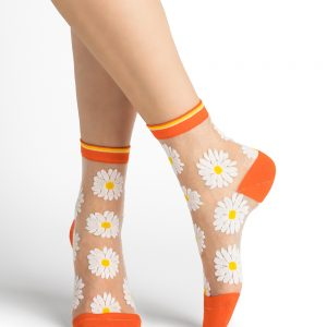 Bleuforet daisies transparent sokkar orange 3