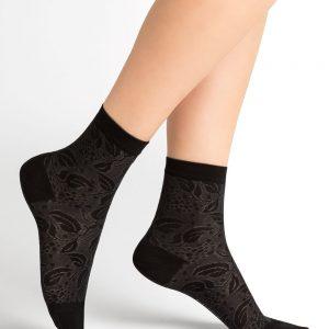 Bleuforet Lacy Eklerberry silki sokkar black 3