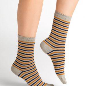 Bleuforet stripes socks grey