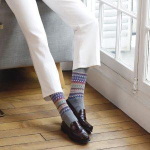 Bleuforet Jacquard cashmere grey