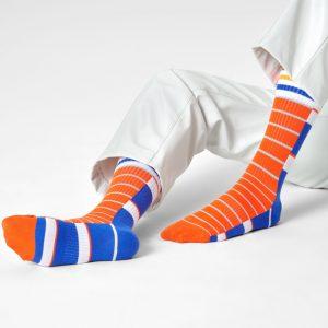 Athletic Half half thin crew socks blue/multi