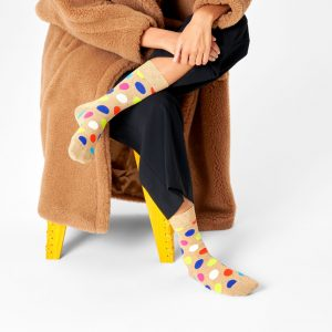 Big dot socks brown/multi
