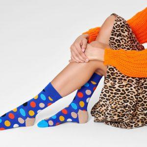 Big dot socks blue/multi