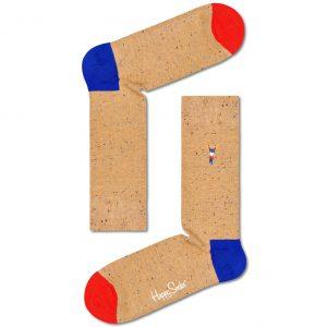 Embrodiery Work it socks brown