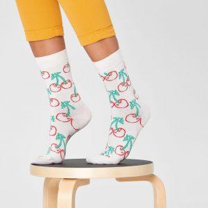 Cherry socks white/multi