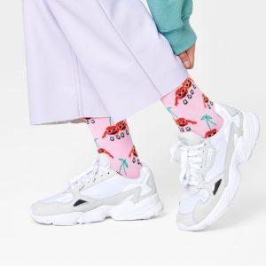 Cherry mates socks pink