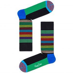 Half stripe socks black/multi