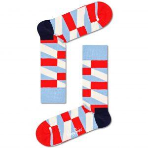 Jumbo filled optic socks blue/red