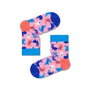 Kids bunny socks pink/multi