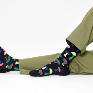 Mushroom socks black/multi