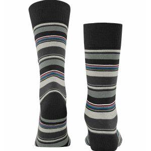 Burlington Polo stripe socks black