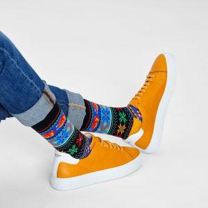 Happy Holiday socks black/multi
