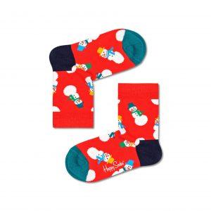 Kids Snowman socks red