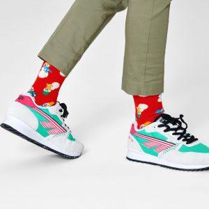Snowman socks red